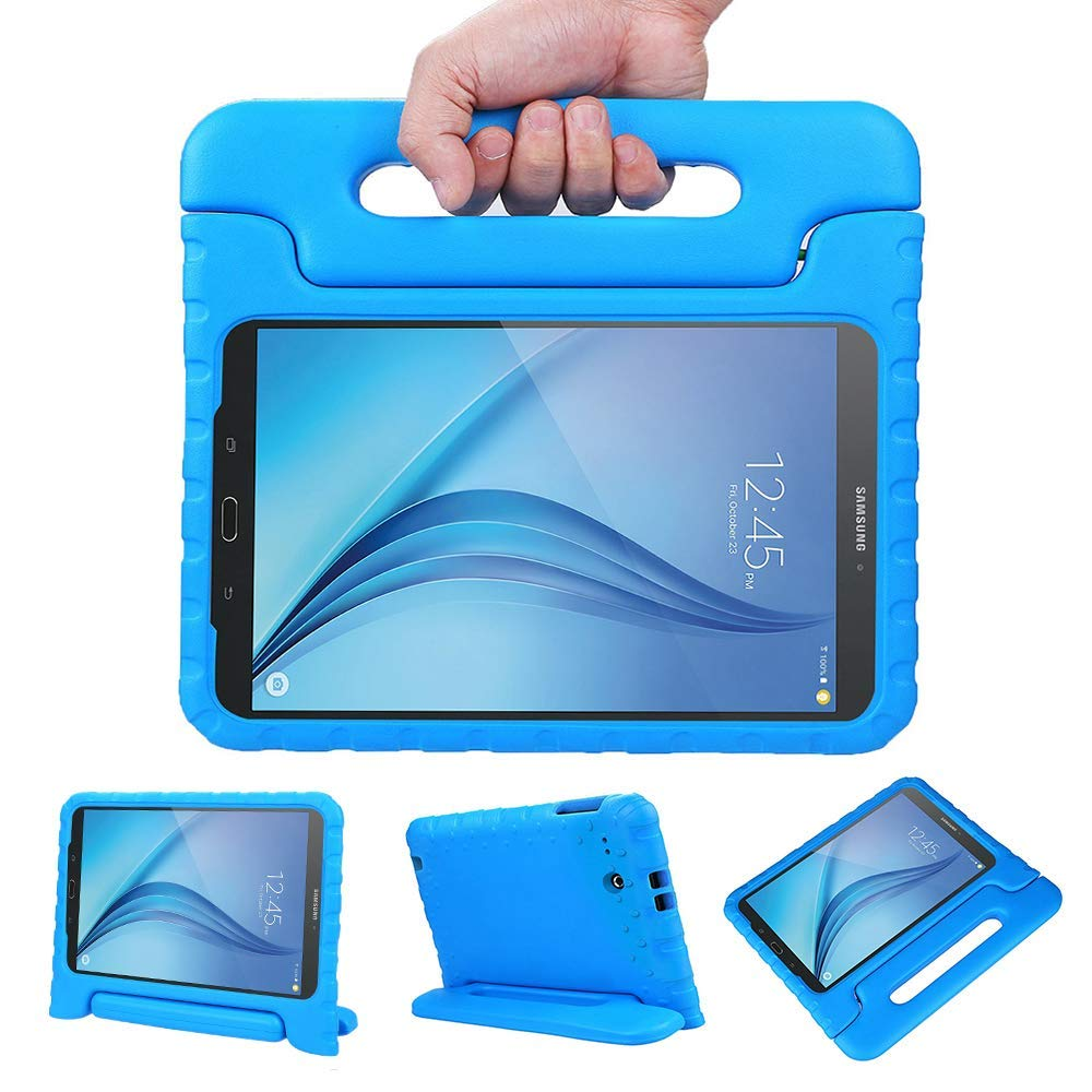 Galaxy Tab E 9.6 Case, Allytech Dynamo Case for Samsung Galaxy Tab E 9.6 | Shock Proof Heavy Duty Kidproof Cover for Kids | Girls, Boys | Kid Friendly Handle & Stand | Samsung SM-T560 T561, Blue