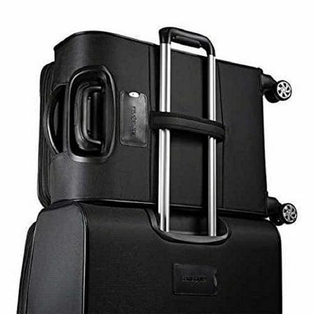 Samsonite StackIt 2-Piece Softside Spinner Luggage Set (Black ...