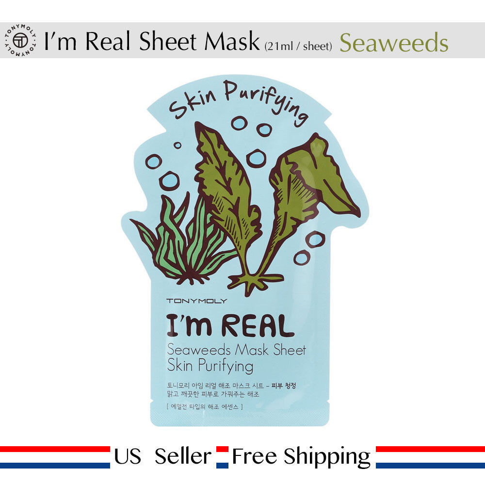 2 Pack - Tony Moly Im Real Face Mask 11 Sheet Pack 21ml (22 Pieces Total) Beauty Face Mask Skin Care Dermisa Dermisa Dark Circle Eye Ereatment, 0.5 oz (Pack of 6)