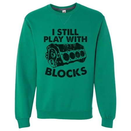 "Green Leggings For Men (Mens Funny Dream Sweatshirt Designer ""I Still Play With Blocks"" Extremely Soft Long Sleeve Sweater X-Large,)"