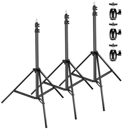 neewer 3 packs 75 inches 190 centimeters adjustable light stands with 3 packs 1 4 inch screw. Black Bedroom Furniture Sets. Home Design Ideas