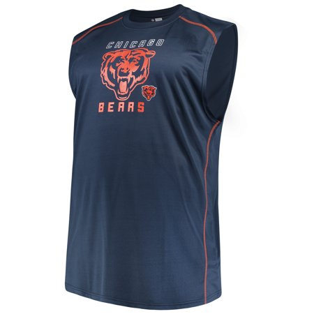 Men's Majestic Navy Chicago Bears Big & Tall Endurance Test Muscle Tank Top - Mens Chicago Bears End