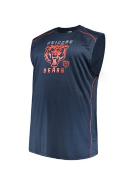 5f5f0c8d64141e Product Image Men s Majestic Navy Chicago Bears Big   Tall Endurance Test  Muscle Tank Top