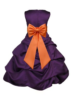 b7c27a952d218 Product Image Ekidsbridal Purple Satin Bubble Pickup Christmas Party  Bridesmaid Recital Easter Holiday Wedding Pageant Communion Princess  Birthday