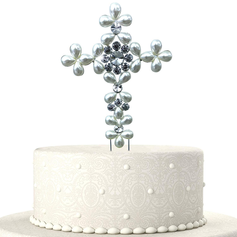 JennyGems Baptism Cake Topper - First Holy Communion Cake ...