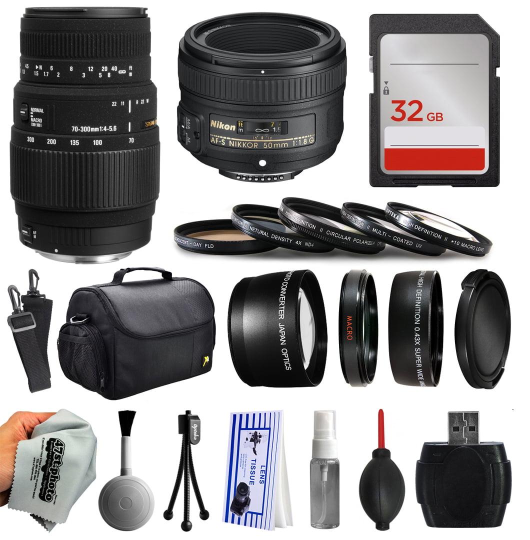 Beginner Accessories Bundle for Nikon DF D7200 D7100 D700...