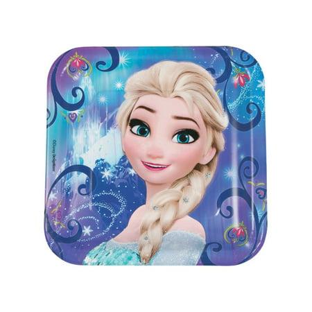 Disney® Frozen Magic Square Paper Dinner Plates](Frozen Party Plates)