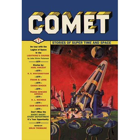 Cover of the first issue of Comet Stories dated January 1940  The second issue of this short-lived pulp magazine  A giant Space Gun decorates the cover Poster Print (Decorating Magazine)