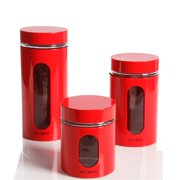 Mr. Coffee Java Bar Glass Canister Set, Red