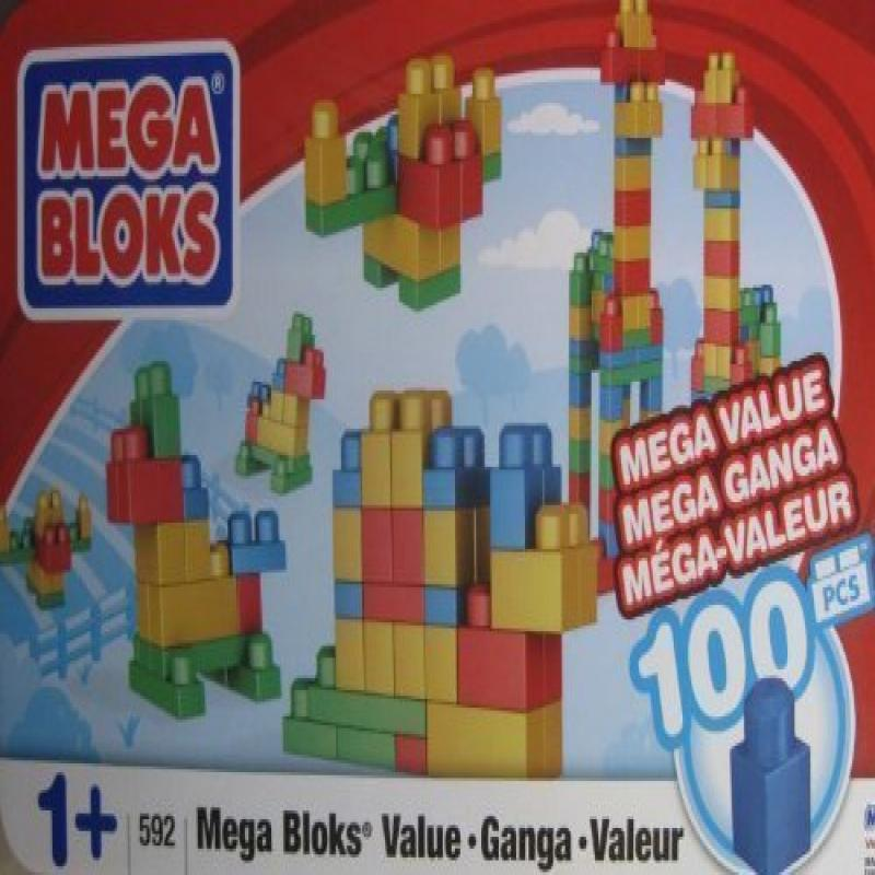 Mega Bloks #592 100 Piece Set with Container by Mega Brands