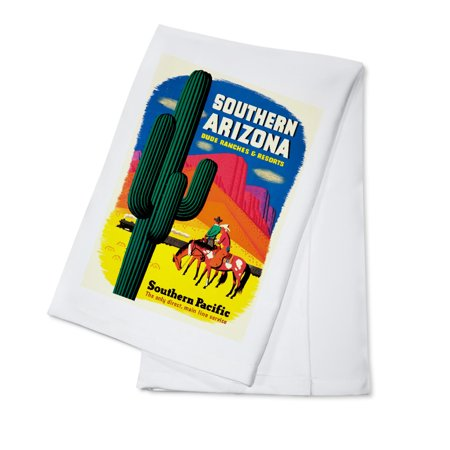 Southern Pacific - Southern Arizona Vintage Poster (artist:  ) USA c. 1950 (100% Cotton Kitchen Towel) ()