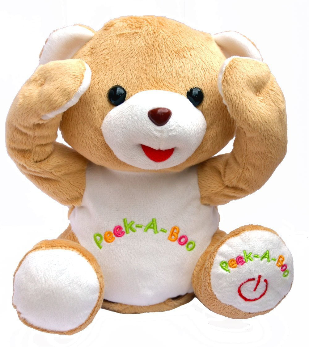 Cute Peek-a-boo Teddy Bear Animated Stuffed Animal By Bo Toys by Bo Toys