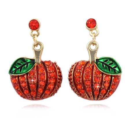 cocojewelry Pumpkin Dangle Earrings Thanksgiving Halloween Jewelry for $<!---->