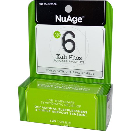 Hylands NuAge Tissue Salts Kali Phosphoricum 6X 125 Tablet, Pack of 2 ()