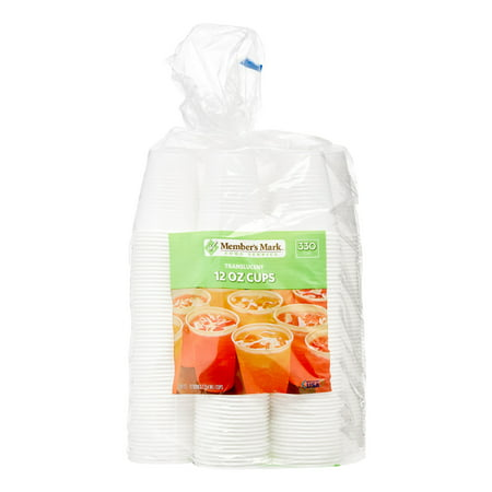 Daily Chef Plastic Cups, 12 Oz, Translucent, 330 Ct - 12 Oz To Cup