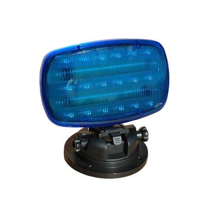 Strobe Plastic Base (Larson Electronics SL-ALM-B Flashing LED Strobe Light with Adjustable Locking Magnetic Base, Blue Lens)