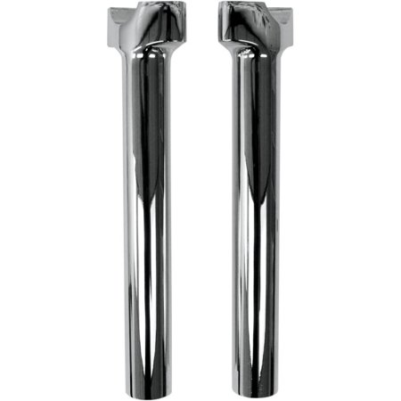 Drag Specialties 1 1/4in. Straight Buffalo Risers   10in. - Chrome 0602-0516