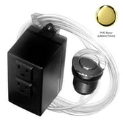 Disposal Air Switch and Dual Outlet Control Box in Polished Brass