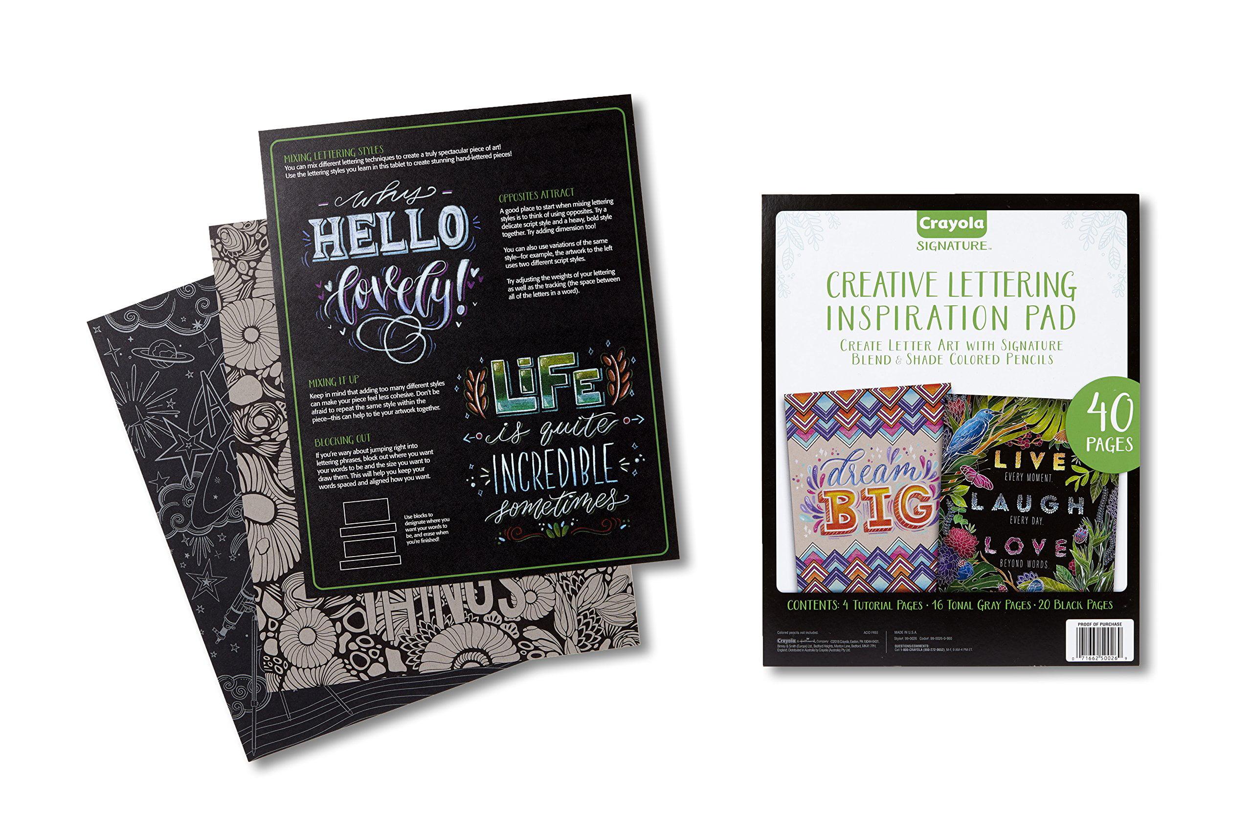 Crayola Signature Activity Pad, Hand Lettering Tutorials And ...