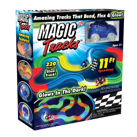 Flexi Track - Magic Tracks The Amazing Racetrack That Can Bend, Flex and Glow - As Seen On TV, SERPENTINE DESIGN: Allows Magic Tracks to bend, flex, and curve in any direction By Ontel