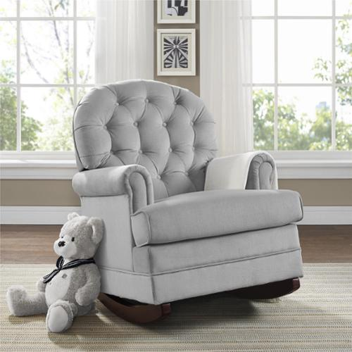 Dorel Asia Baby Relax Brielle Button Tufted Grey Rocker