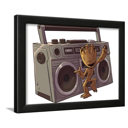 Guardians of the Galaxy Panel Featuring Groot Framed Print Wall Art