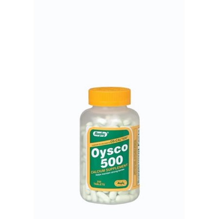 Rugby Oysco 500 Tab Oyster Shell-500 Mg Lt Green 250 Tablets Upc (500 Rugby)