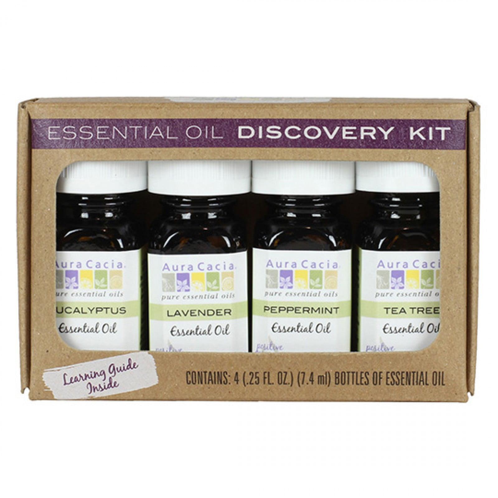 Aura Cacia Discover Essential Oils Kit Set of 4 Walmart