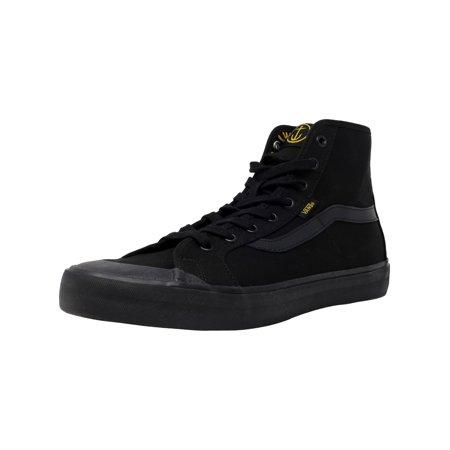 699dcaacff Vans Men s Black Ball Hi Sf Captain Fin   Ankle-High Fabric Fashion Sneaker  - 9.5M