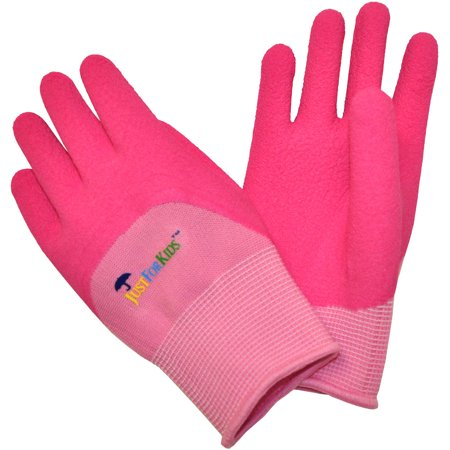 Grenade Pipe Gloves - G & F JustForKids All-Purpose Gloves with Premium Micro-foam Texture Coating, Pink