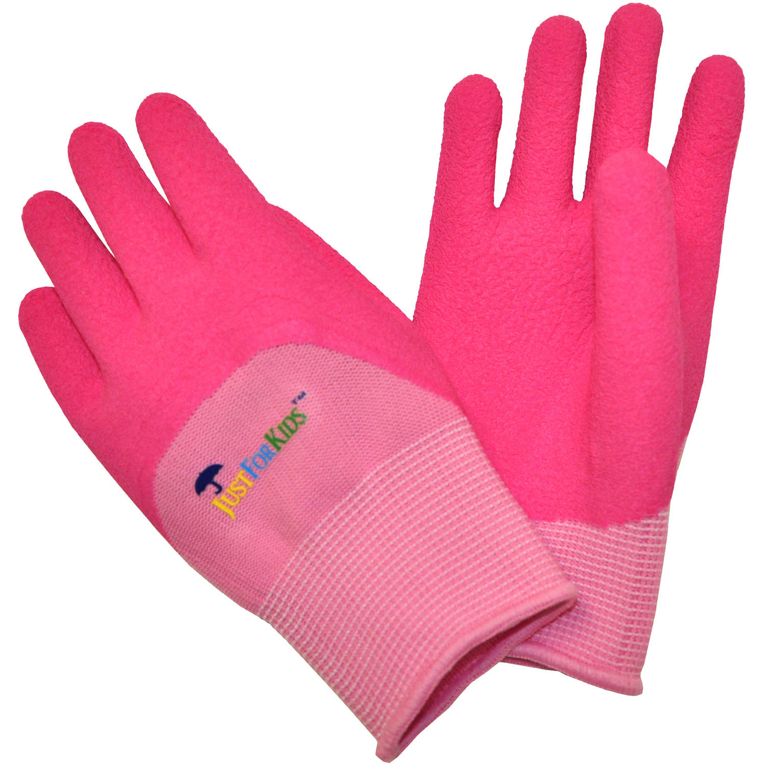 G & F JustForKids All-Purpose Gloves with Premium Micro-foam Texture Coating, Pink