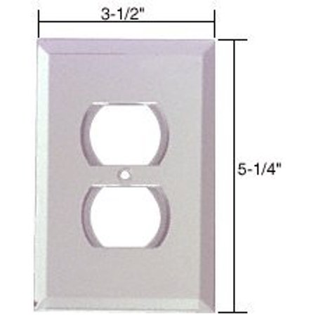 GMP2C CRL Clear Duplex Plug Glass Mirror Plate, Mirrored Accessories for Your Custom Bath or Dressing Room By C.R. (Cbl Plate)