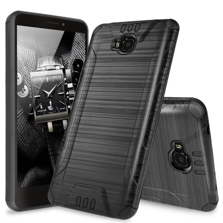 brand new e050c 04195 Huawei Ascend XT2 Case, Huawei Elate 4G Case, Huawei H1711 Case, TJS Dual  Layer Hybrid Shockproof Impact Resist Rugged Drop Protection Case Cover ...