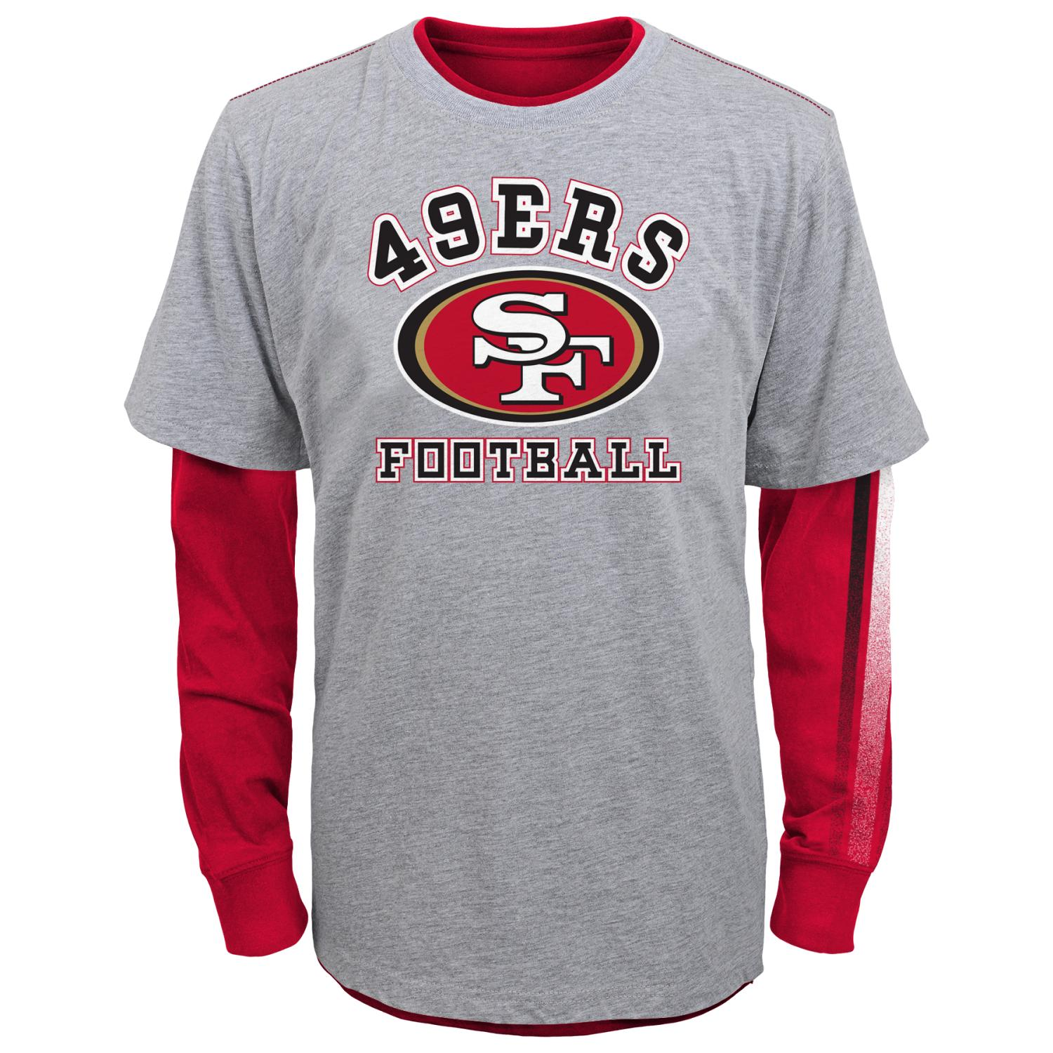 """San Francisco 49ers Youth NFL """"Classic Fade"""" 3 in 1 T-Shirt Combo Set"""