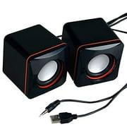Portable Computer Speakers USB Powered Desktop Mini Speaker Bass Sound Music Player System Wired Small Speaker