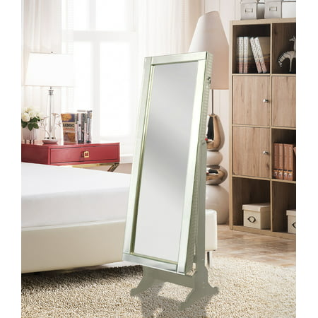 Chic Home Daze Modern Contemporary Mirror Border Rectangular Jewelry Armoire Cheval Mirror, Full-length Royal Champagne ()