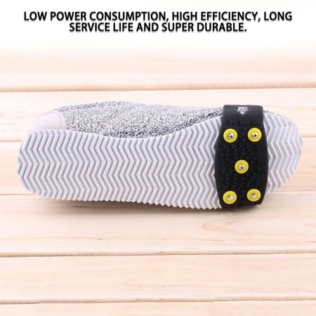 1pair Delicate Snow Ice Climbing Anti Slip Spikes Grips Crampon Cleats 5-Stud Shoes Cover fasten overshoes to your shoes - image 6 de 12