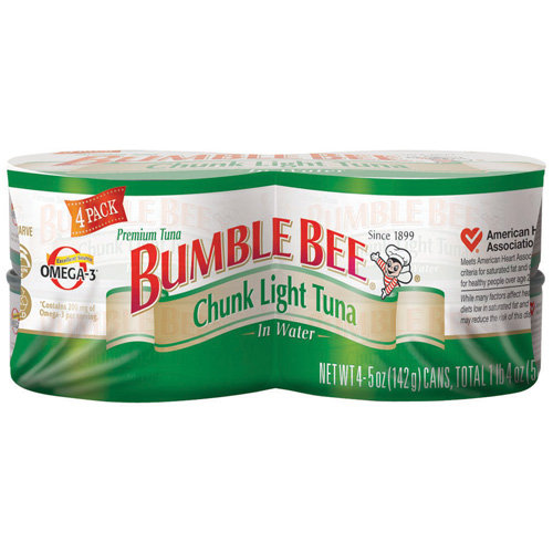 Bumble Bee: Chunk Light In Water 5 Oz Cans Tuna, 4 Ct