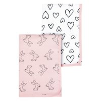 Little Star Organic 100% Pure Organic Cotton Receiving Blanket, 2 Pk, Pink-Modern Blush