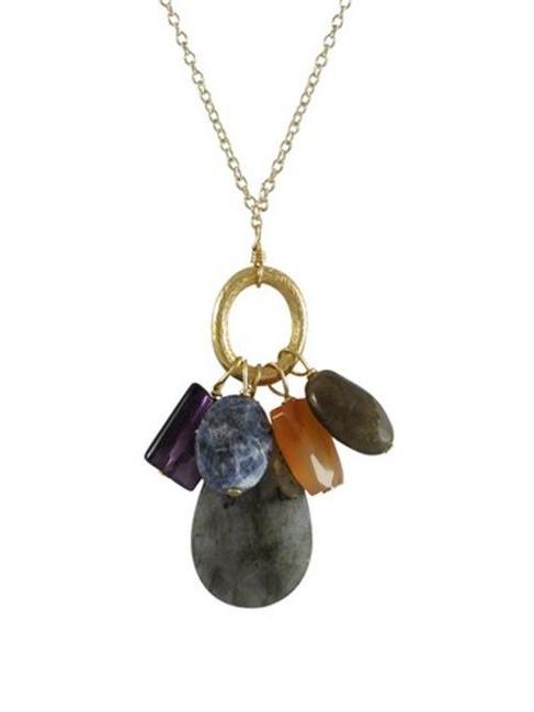 Heart Pendant Labradorite Pendant Gray Pendant Jewelry Supply Gray Gemstone Pendant Semi Precious #654