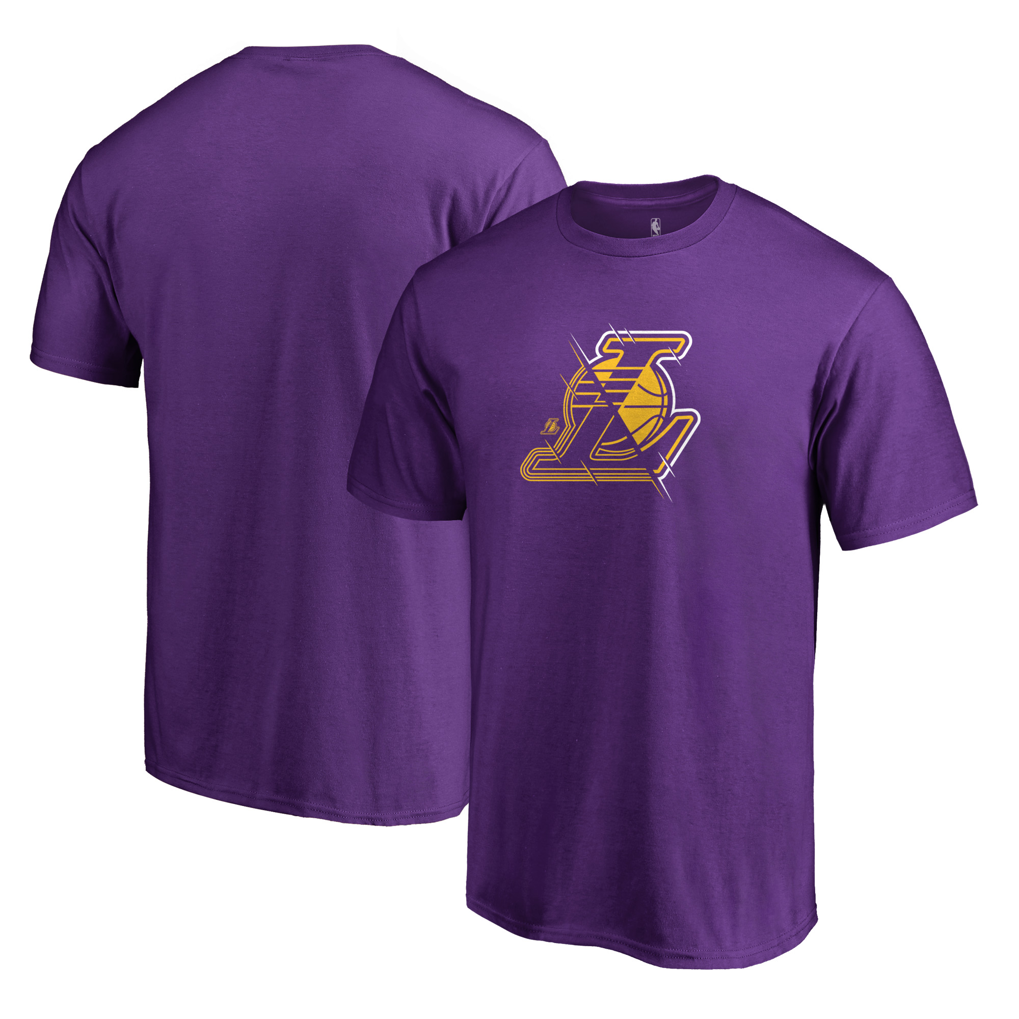 Los Angeles Lakers Fanatics Branded X-Ray Big and Tall T-Shirt - Purple