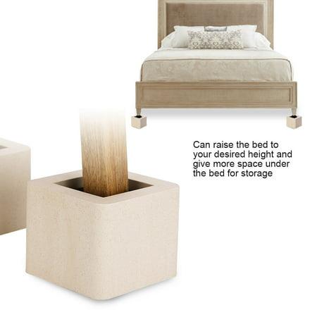 4pcs set furniture leg risers funiture accessories non slip riser for table desk bed sofa beige. Black Bedroom Furniture Sets. Home Design Ideas