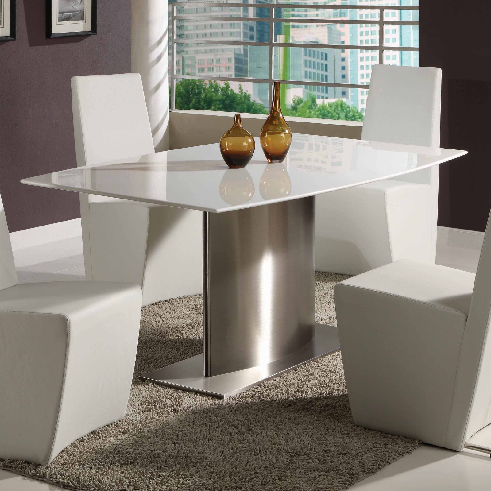Creative Images International Paula Dining Table - White