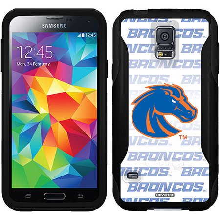 Boise State Cell Phone (Boise State Repeating White Blue Design on OtterBox Commuter Series Case for Samsung Galaxy S5 )