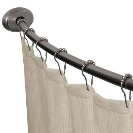 Maytex Smart Curved No Drill Shower Curtain Tension Rod Walmartcom