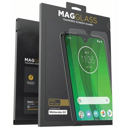 Magglass Moto G7 Matte Screen Protector (2019) Fingerprint Resistant Anti Glare Tempered Glass Guard (Case (Glare Resistant Glasses)