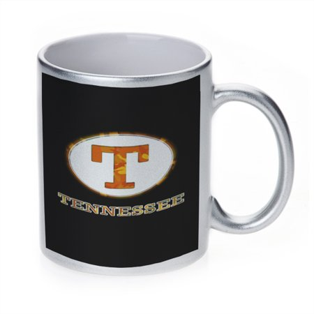 (KuzmarK Silver Sparkle Coffee Cup Mug 11 Ounce - Tennessee Camouflage)