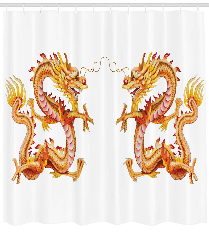 Twin Fire Dragon Zodiac Statues