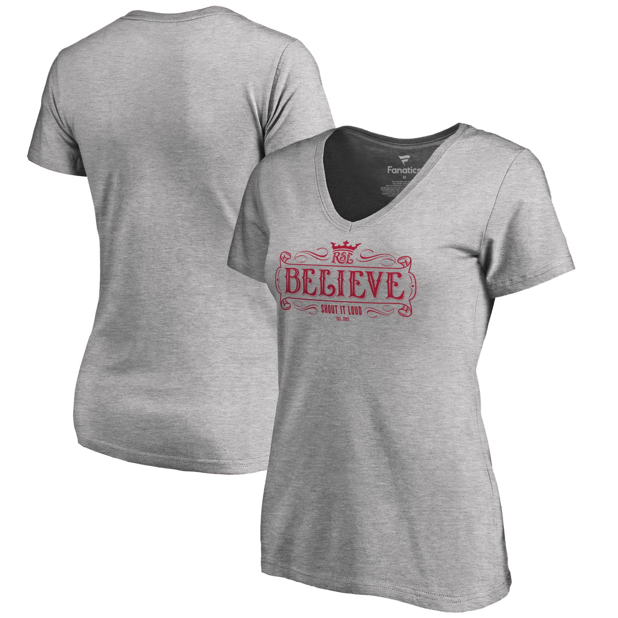 Real Salt Lake Fanatics Branded Women's Hometown Collection Battle Hymn V-Neck T-Shirt - Heather Gray