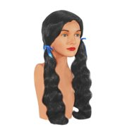 Star Power Country Girl with Ribbon Long Wavy Wig, Black, One Size
